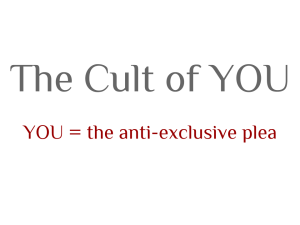 The cult of you image