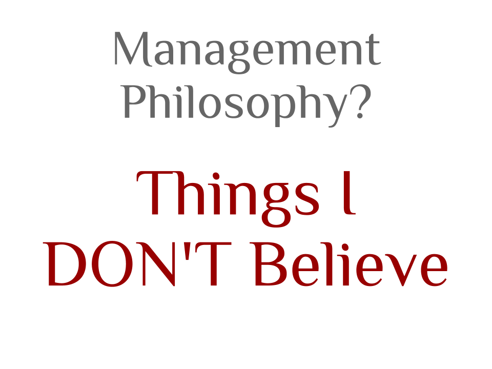 management philosophy managing students You have a learning philosophy that guides your teaching style teach it to your students clearly map out for your students what you do to help them learn so that when you do it, they know what you are doing and why, and they will be more willing to help.