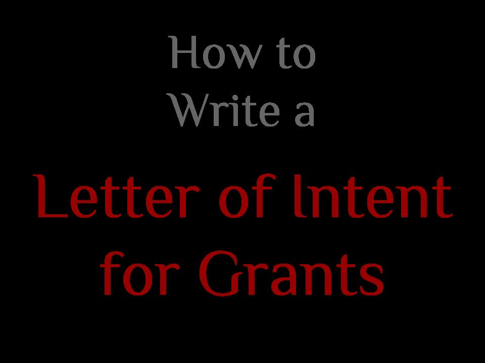 Letter of intent grants divingexperience letter of intent grants spiritdancerdesigns Images