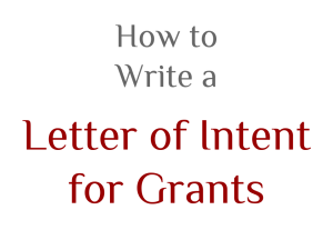 How to Write a Letter of Intent for Grants
