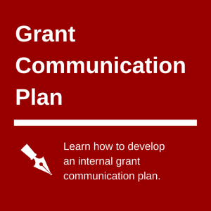 internal grant communication plan picture
